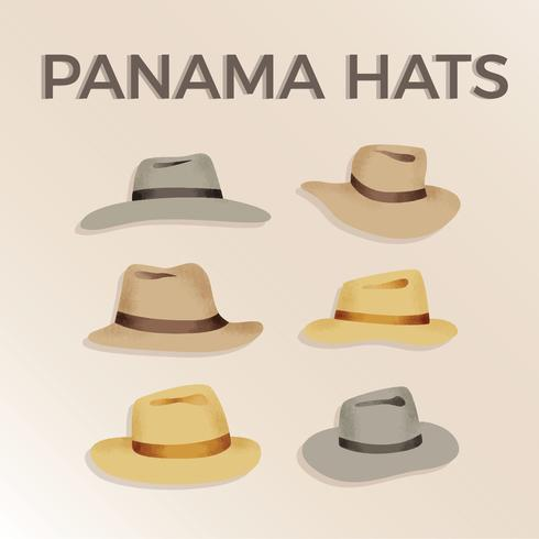 Vettore gratuito di cappelli di Panama