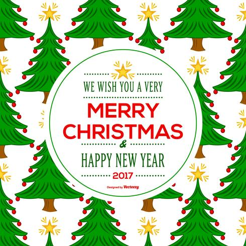 Beautiful Merry Christmas Background Card Download Free Vector Art