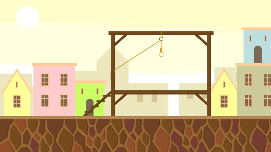 Gallows In The City Center Free Vector