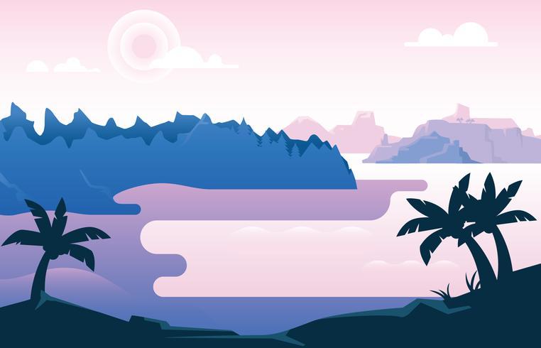 Schöne Bucht-Illustration