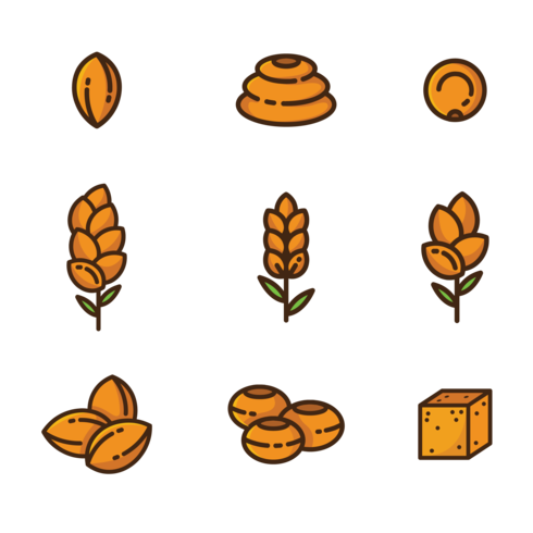 Sorghum Icons Vector