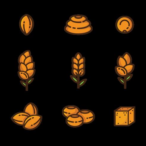 Sorgho Icons Vector