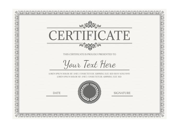 Vector Certificate Template  Download Free Vector Art Stock