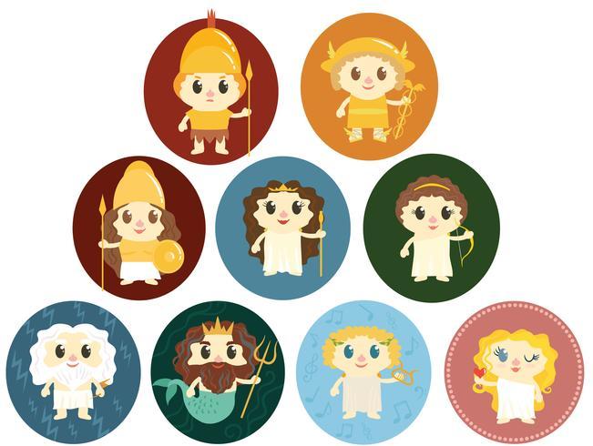 vetores de deuses gregos livres e bonitos