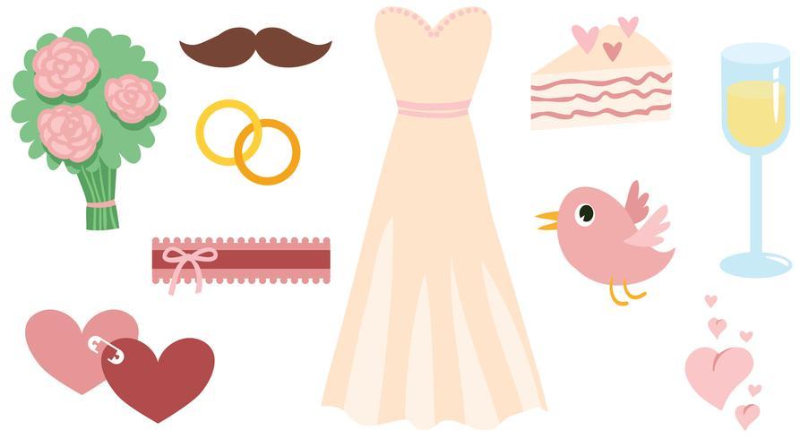 Free Pink Wedding Vectors