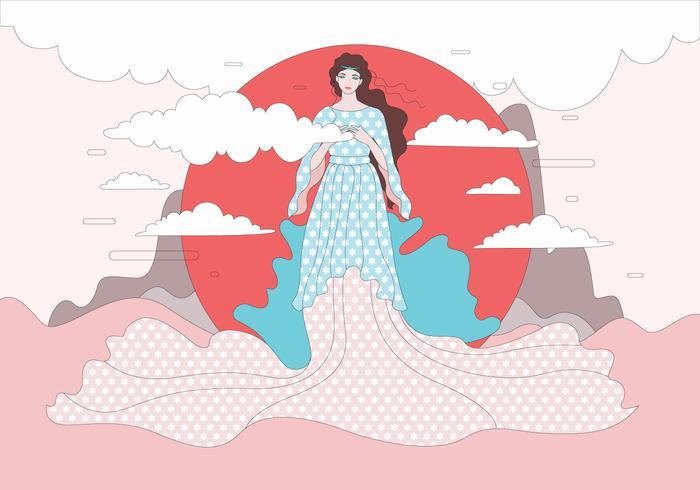 Vacker Aphrodite Illustration Vector