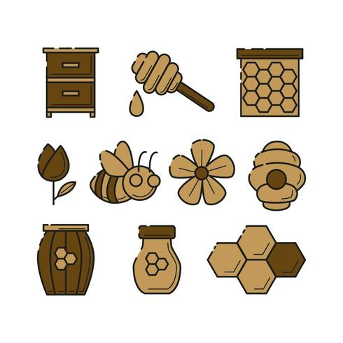 Free Beekeeping Colorful Icon Vector