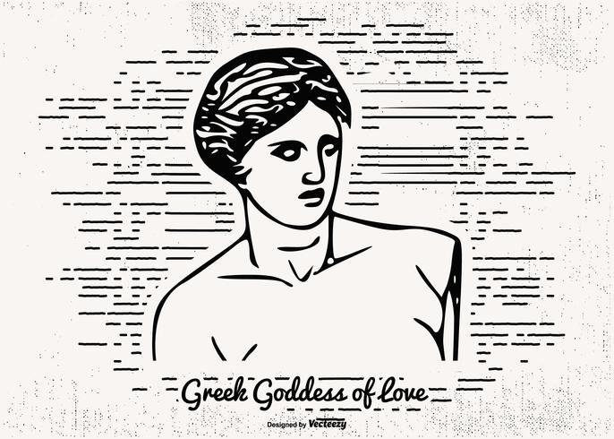 ritad illustration av kärlekens gudinna