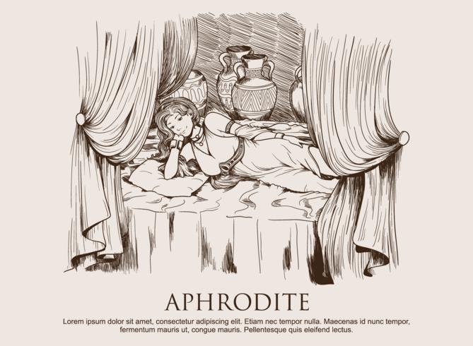 Aphrodite desenhada à mão