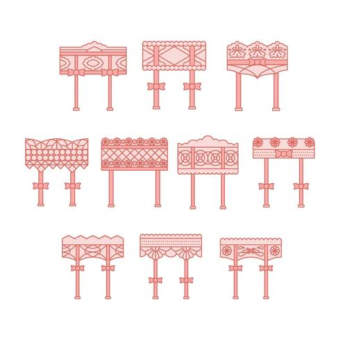 Gratis Garter Collection Vector