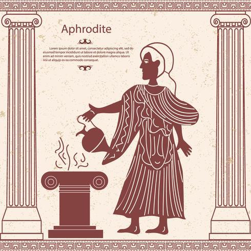Griechische Göttin Aphrodite mit einem Krug in der Hand