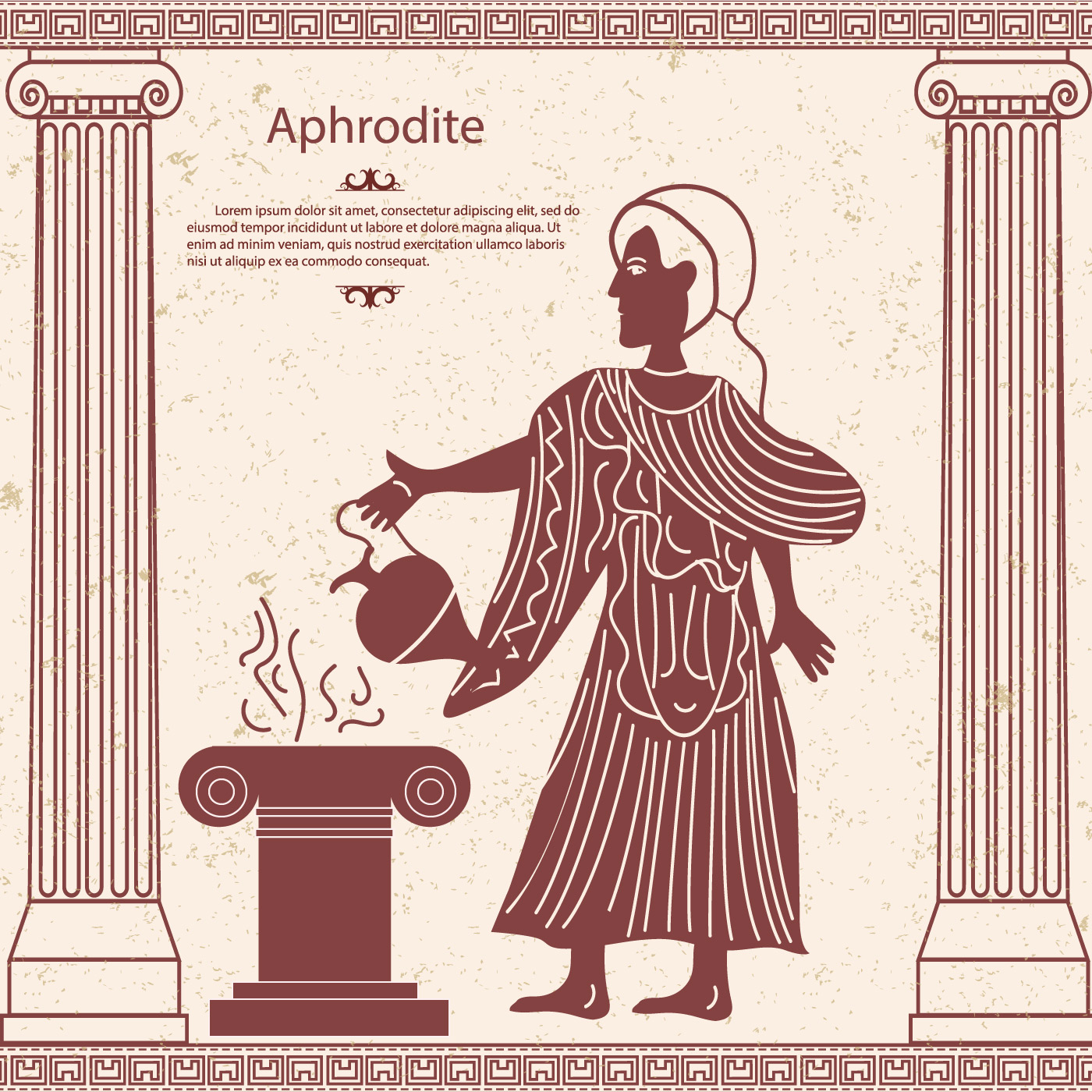Greek Goddess Aphrodite With A Pitcher In Her Hand Download Free