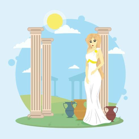 Kostenlose Aphrodite-Illustration vektor