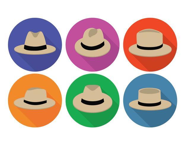 Panama Hut Vektor festgelegt