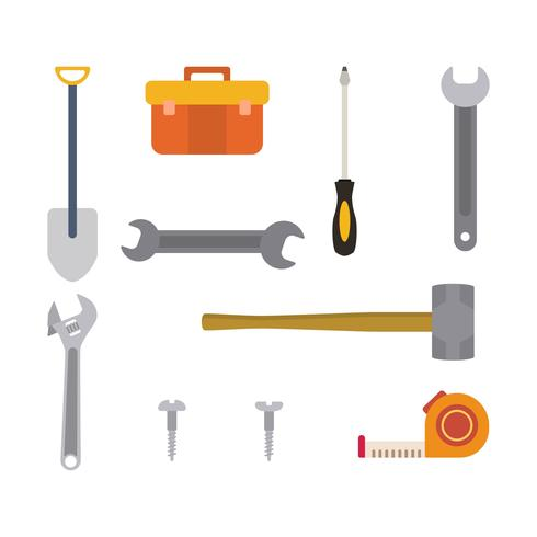 Flache Werkzeugvektoren