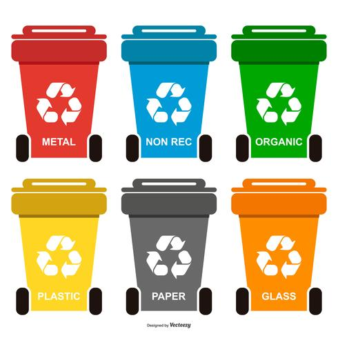 Recycle Waste Bins Collection vector