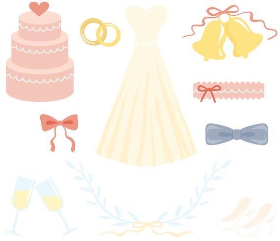 Kostenlose weiche Hochzeitsvektoren vektor