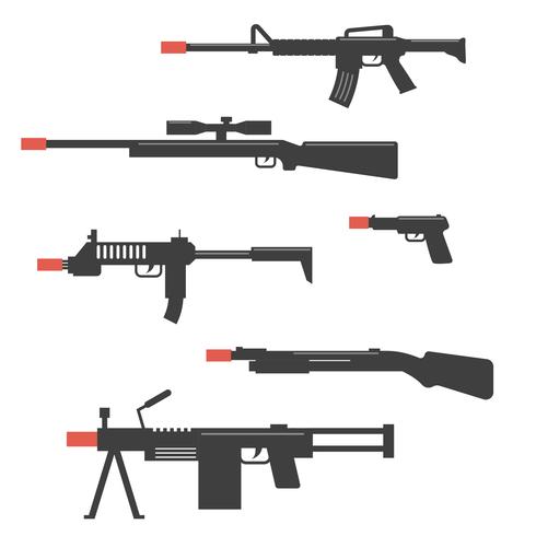 vector de arma de airsoft negro