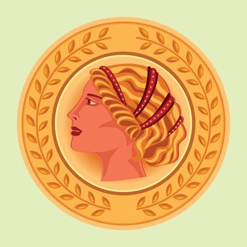 Aphrodite Ancient Greek Mascot Vector