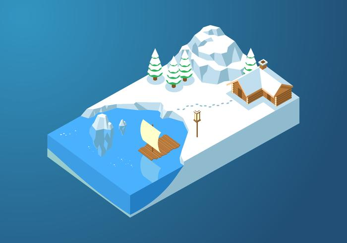 Isometric Ice Cove Vector libre
