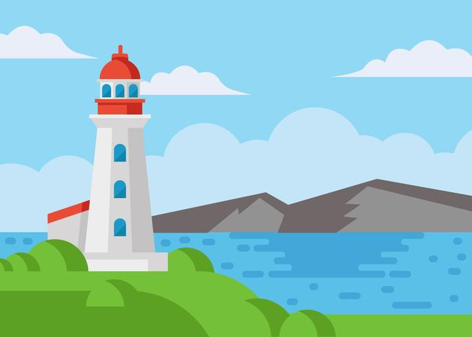 Free Cove Lighthouse Vector