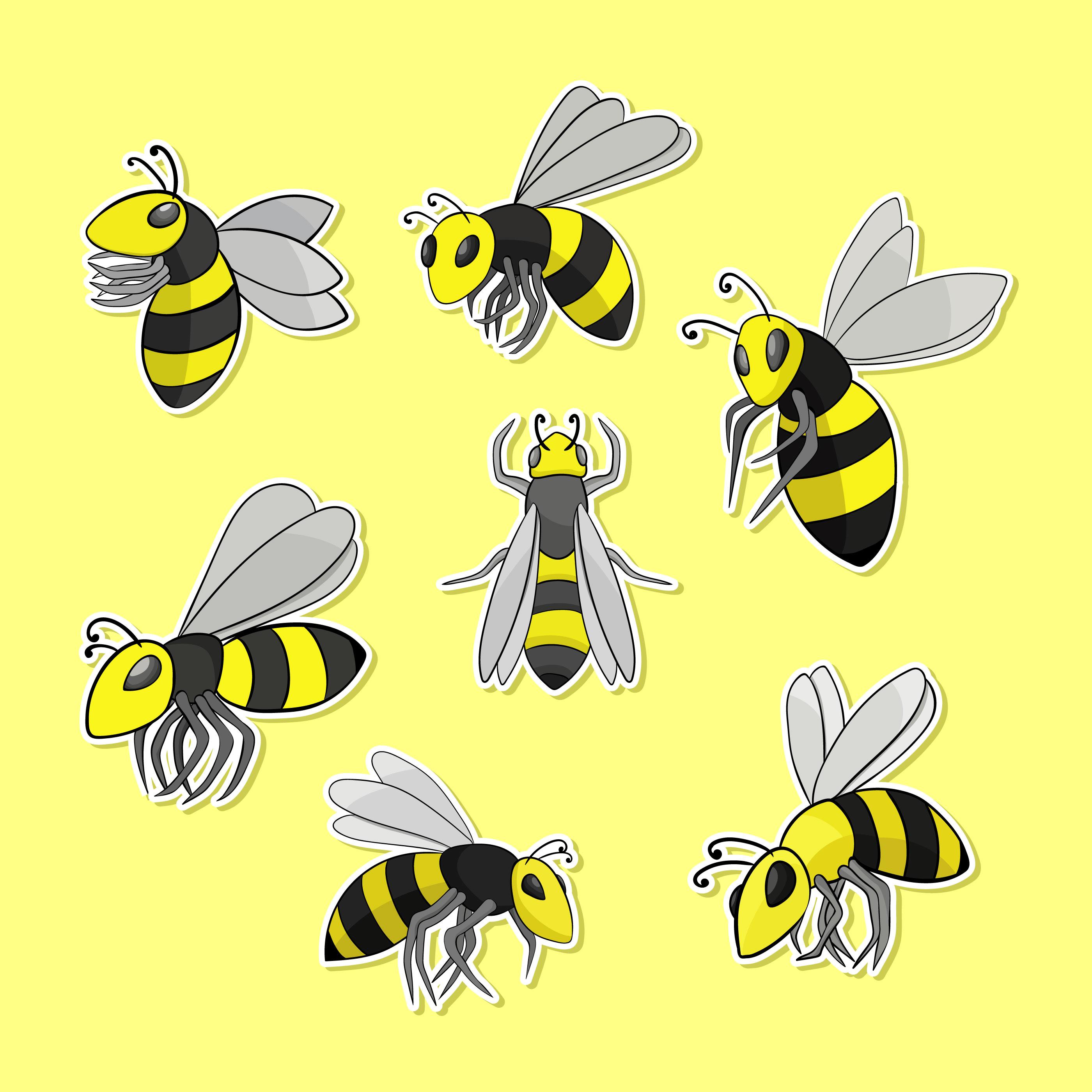 Нарисованная картинка осы