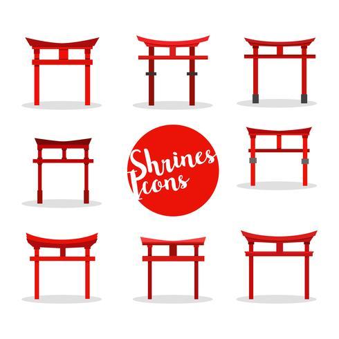 Vecteur de Shrine Icons