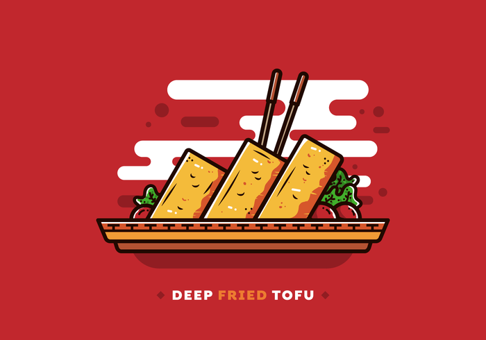 Gratis Deep Fried Tofu Vector