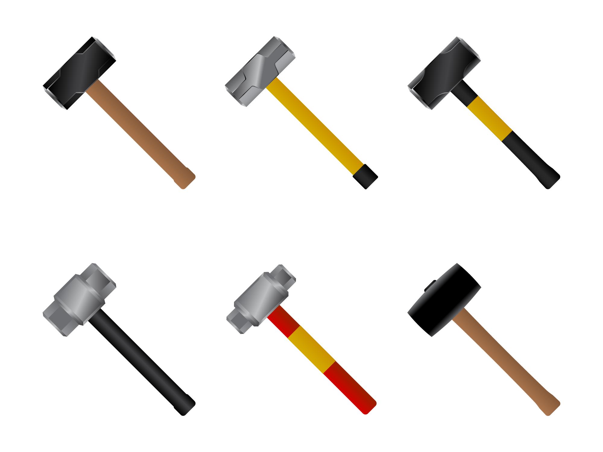 3D Sledgehammer Vector - Download Free Vector Art, Stock ...
