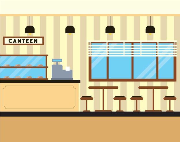 Canteen vector illustration
