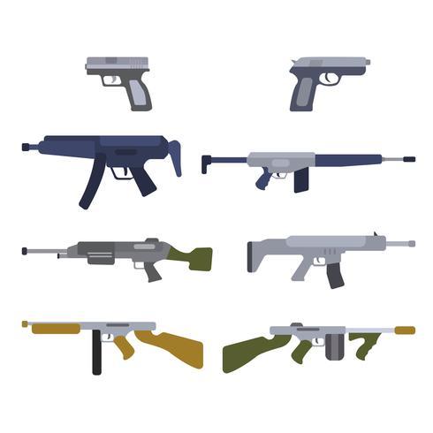 Flat Airsoft Gun Vectors