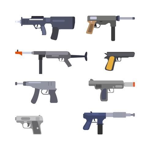 platta airsoft pistolvektorer