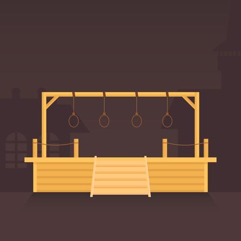 Gallows spel illustration platt design stil.