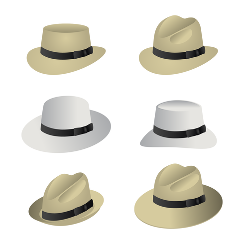 Retro Panama Hat Vector