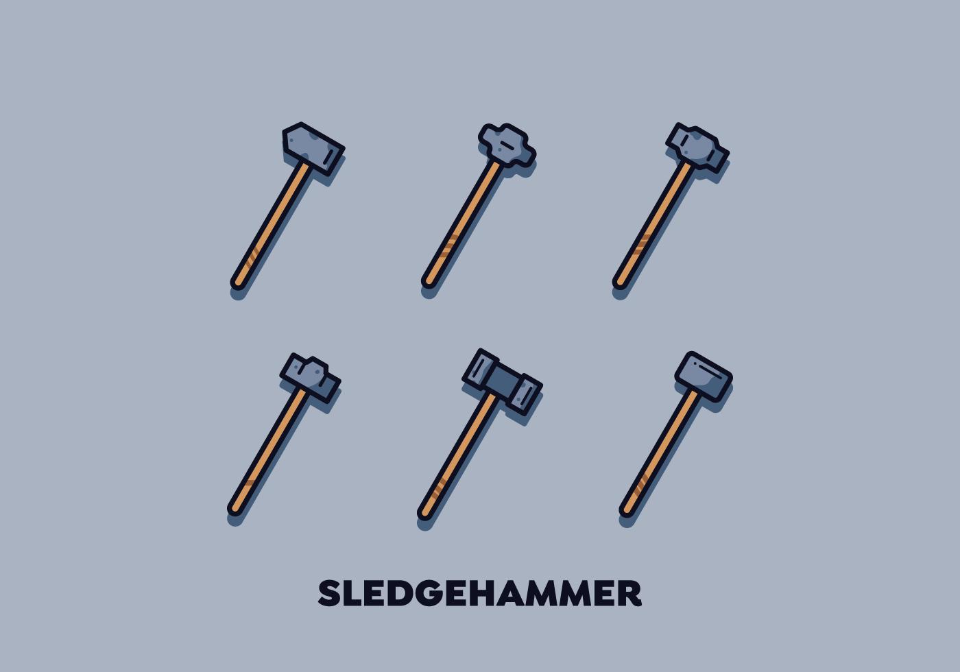 Free Sledgehammer Vector - Download Free Vector Art, Stock ...