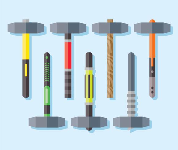 vector de iconos de martillo