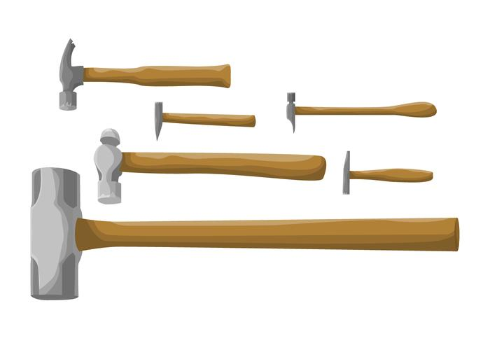 Cartoon Set Of Hammer Vectors