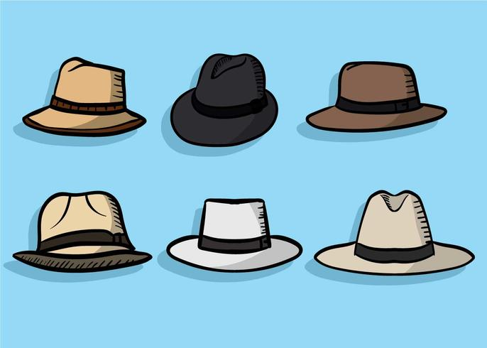 Panama Hat vector set