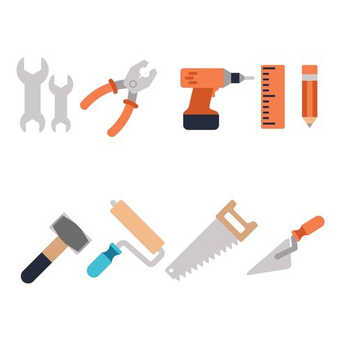 Construction Tools Icon Vector
