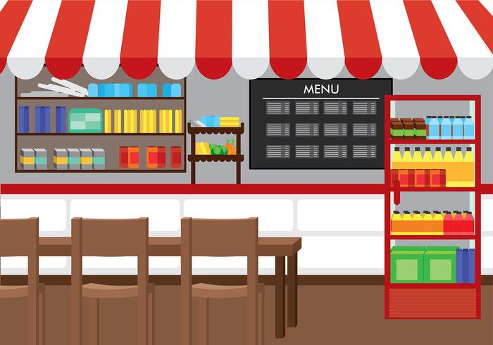 Canteen Background Free Vector