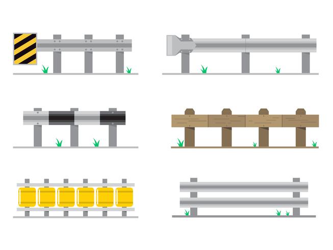 Flat Guardrail Vector