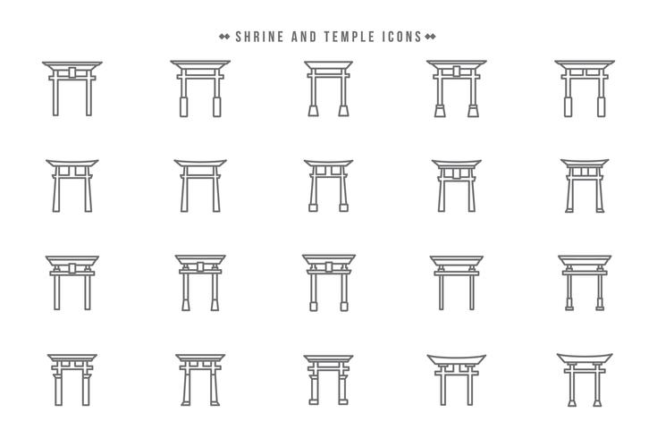 Free Shrine and Temple Vectors