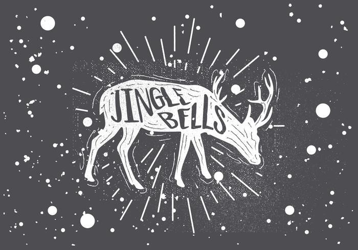 Freie Hand gezeichnete Weihnachten Vector Hintergrund