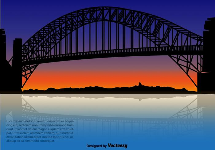Harbour Bridge - Vector Illustration
