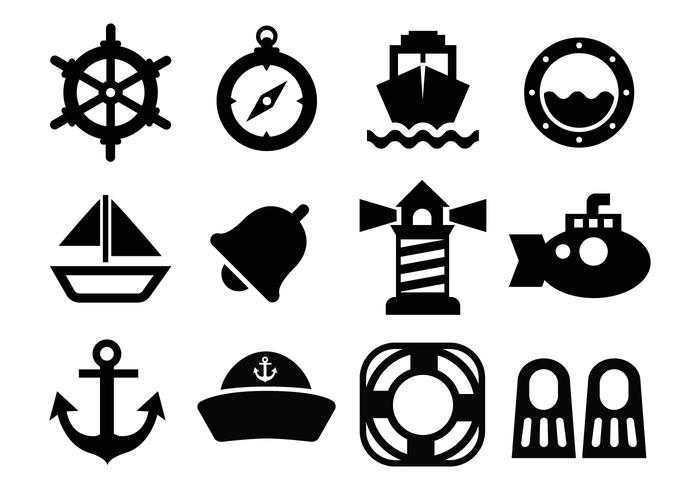 Gratis Nautical Ikoner Vector