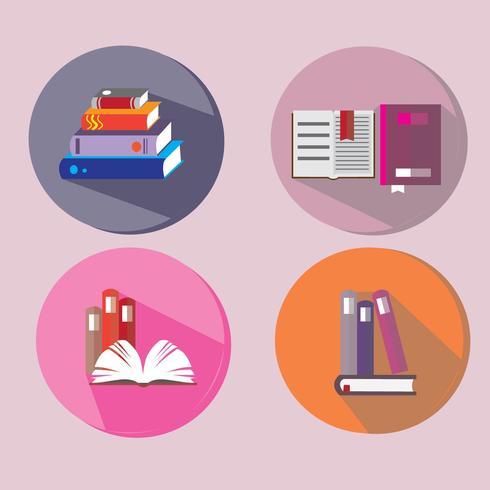 conjunto de vectores de icono de libro