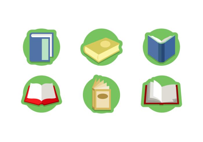 paquete de vector libre de libro