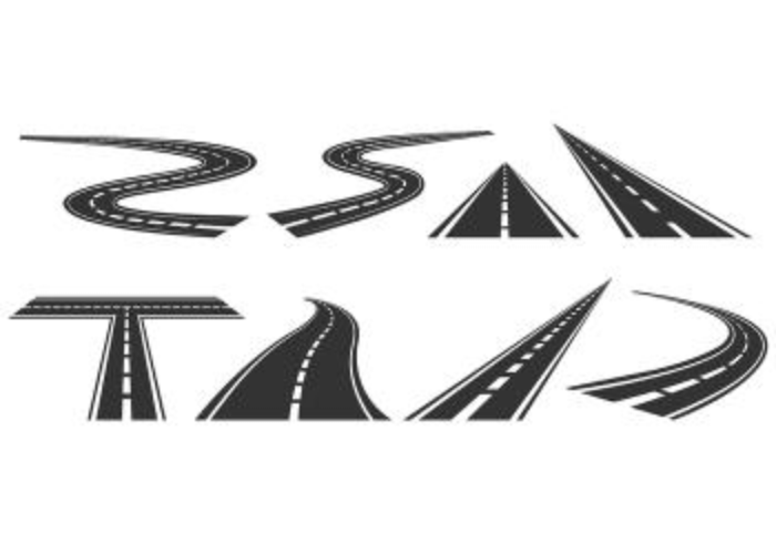 Set Of Highway Icon vector