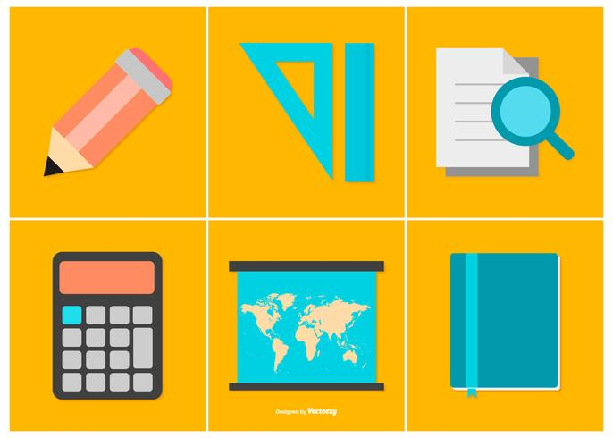 Colorful Education Icon Collection