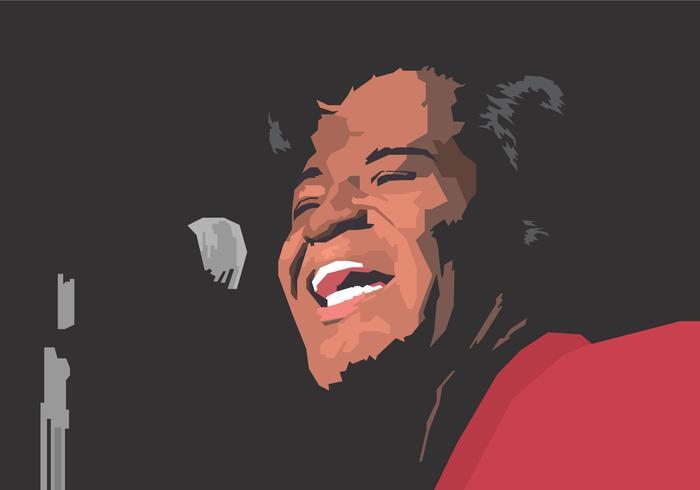 Ilustración de James Brown Vector
